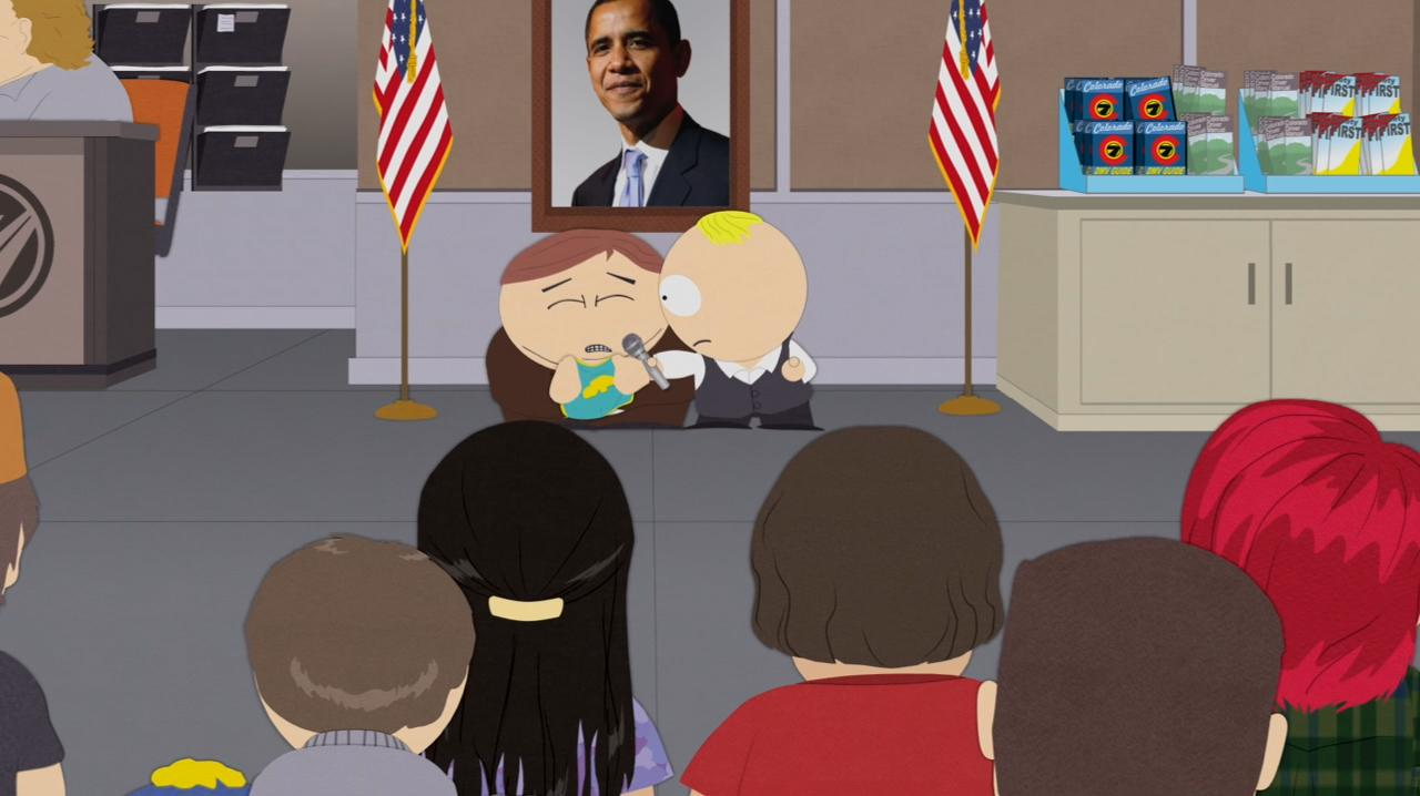 south park satire Buckle up, buckaroos: despite obvious opportunities for satire, the 'south park' creators plan to drive around the current political trainwrecks why for the saddest, most basic reason: reality is now funnier than their show.
